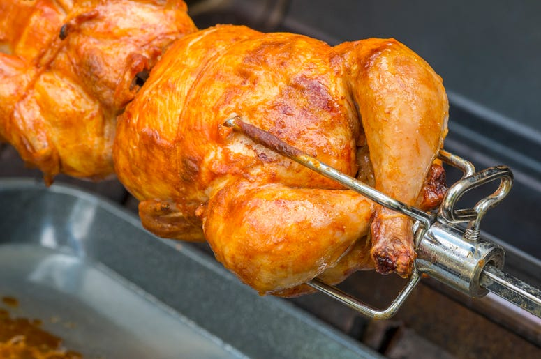 Rotisserie chicken carcasses