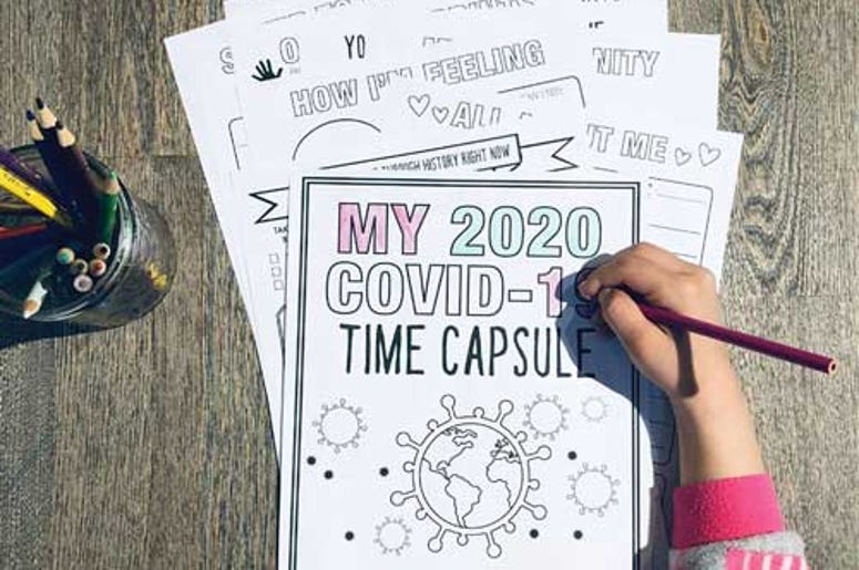 COVID-19 Time Capsule coloring book