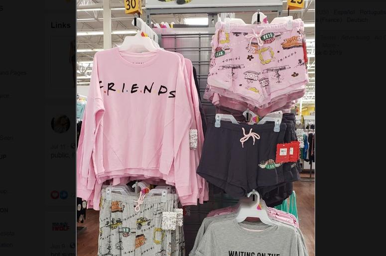 Friends pajamas walmart