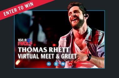 Thomas Rhett Virtual Meet & Greet with 102.9 The Wolf