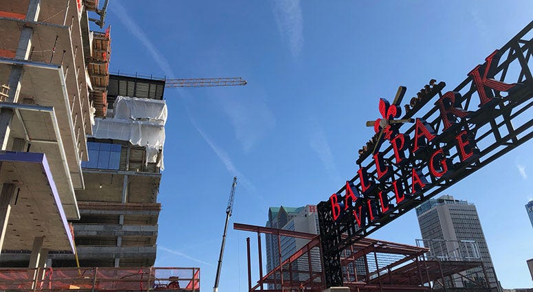 Ball Park Village construction in St. Louis