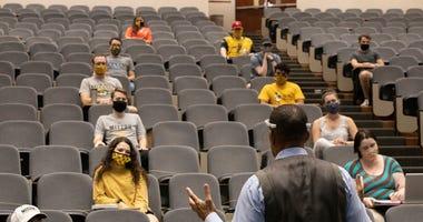 mizzou, classroom, college, face mask