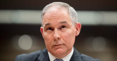 In this May 16, 2018, file photo, Environmental Protection Agency Administrator Scott Pruitt appears before a Senate Appropriations subcommittee on the Interior, Environment, and Related Agencies on budget on Capitol Hill in Washington.