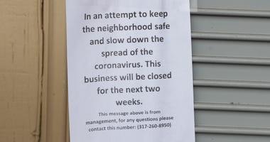 Business closed due to coronavirus
