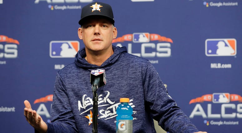 Houston Astros manager AJ Hinch speaks