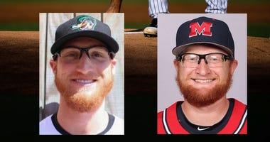 Two minor league pitchers, both named Brady Feigl.