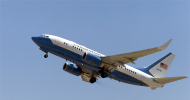 C-40 plane at Scott Air Force Base