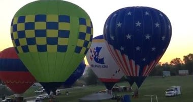 LOOK UP: Hot air balloons taking off around St. Louis all weekend