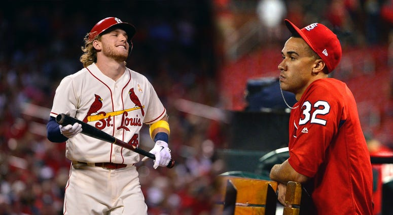 St. Louis Cardinals rookies Harrison Bader and Jack Flaherty.