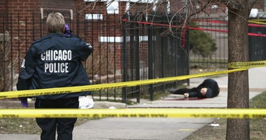 Chicago Police crime scene