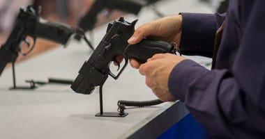 guns on display at store