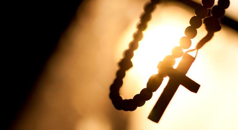 cross on rosary