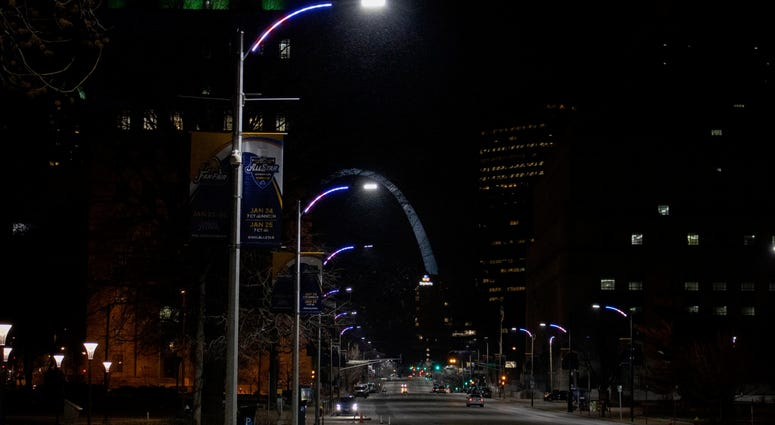 New downtown STL lights