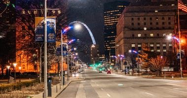 New downtown STL lights