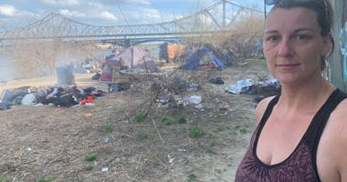 Riverfront homeless tent city