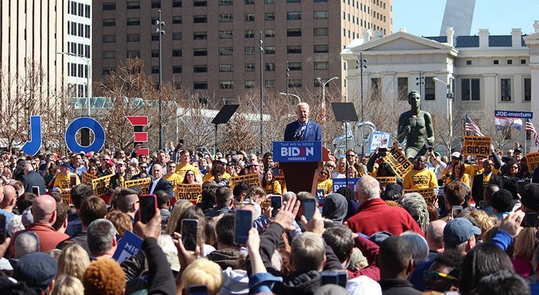 Joe Biden in St. Louis Missouri