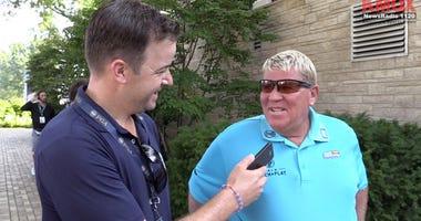 Tom Ackerman interviews John Daly at the PGA Championship at Bellerive.