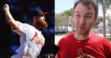 Cardinals pitcher John Brebbia on his beard.