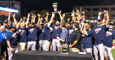 Memphis Redbirds celebrate Triple-A National Championship.