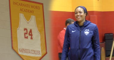 Napheesa Collier has her number retired at IWA.