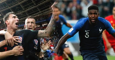 Croatia and France celebrate victories in their respective semi-final matches at the World Cup.