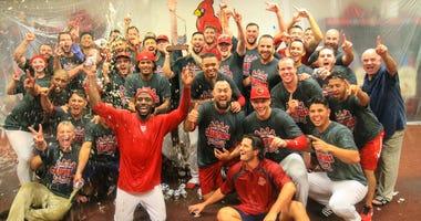 Memphis Redbirds celebrate PCL Championship.
