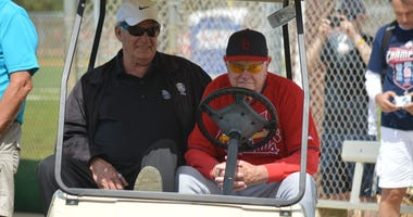 Mike Shannon and Red Schoendienst at St. Louis Cardinals spring training