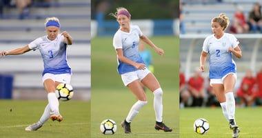 Saint Louis University Women's Soccer players.