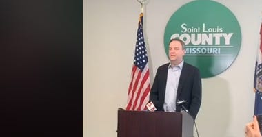 St. Louis County Executive Sam Page holds a news conference Sunday March 8, 2020