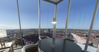 View from one of the apartments at One Cardinal Way.