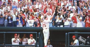 St. Louis Cardinals infielder Mark McGwire.