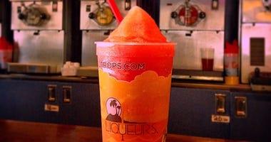 Strawberry Daiquiri on the bar at Tropical Liqueurs