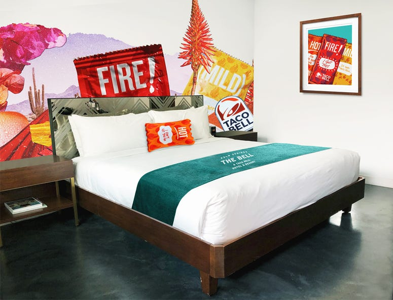 The Bell: A Taco Bell Hotel guest room