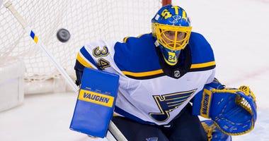 St. Louis Blues goalie Jake Allen