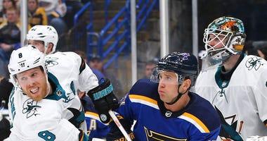 St. Louis Blues left wing Jaden Schwartz
