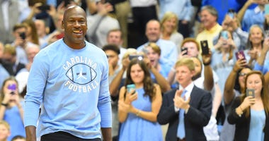Former North Carolina Tar Heels great Michael Jordan
