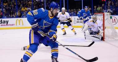 St. Louis Blues left wing Zach Sanford