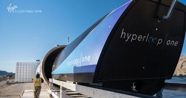 Virgin's Hyperloop One test site.