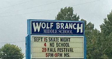 Wolf Branch Middle School in Swansea, Illinois.