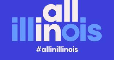 #AllInIllinois logo