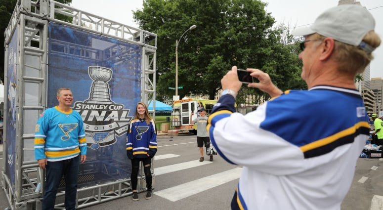 St. Louis Blues fans Stanley Cup Final watch party