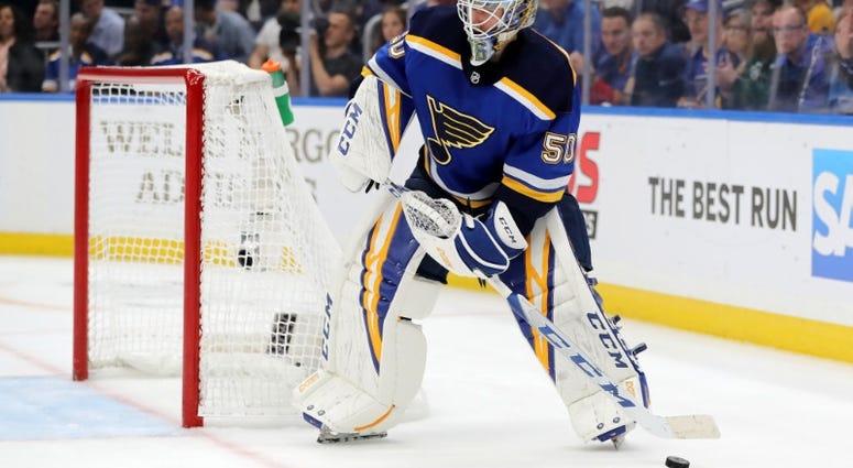 St. Louis Blues goalie