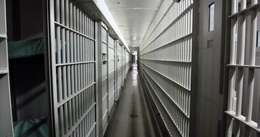 Jail cells in a city facility located in the southern United States.