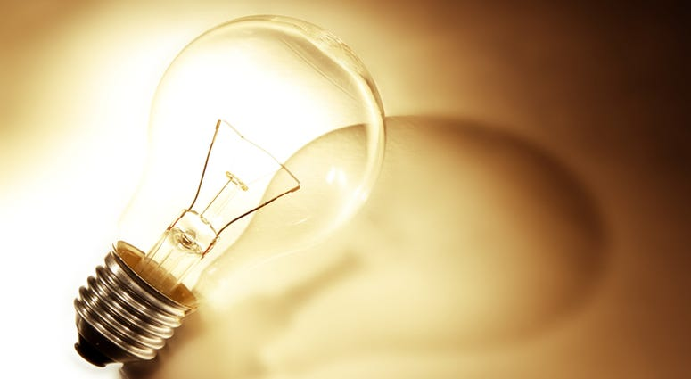 Light bulb and shadow, warm tone
