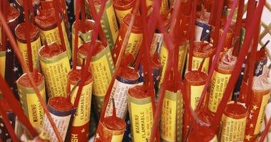 Box of bottle rockets