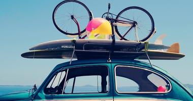 Vintage Summer holiday road trip vacation