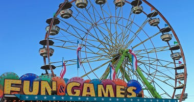 Ferris Wheel on the Arcade at the Fair