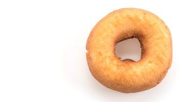 Donut isolated on white background