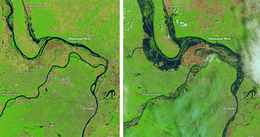 Mississippi River flooding May 9, 2019