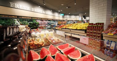 MELBOURNE, AUSTRALIA - NOVEMBER 28: A general view of the Fresh fruit and vegetables during the Coles Local St Kilda Store Opening on November 28, 2019 in Melbourne, Australia